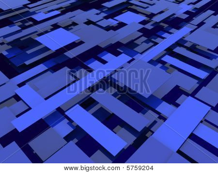 Abstract blue plates