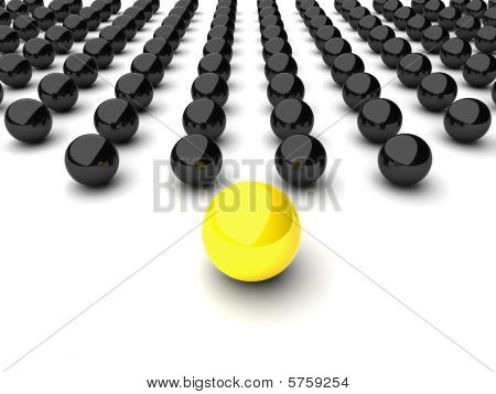 Leadership concept with spheres