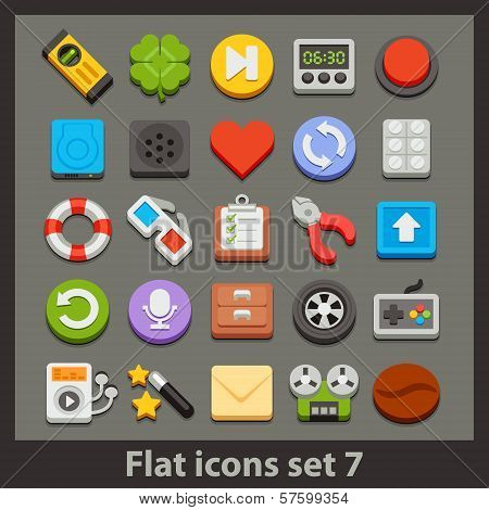 vector flat icon-set 7