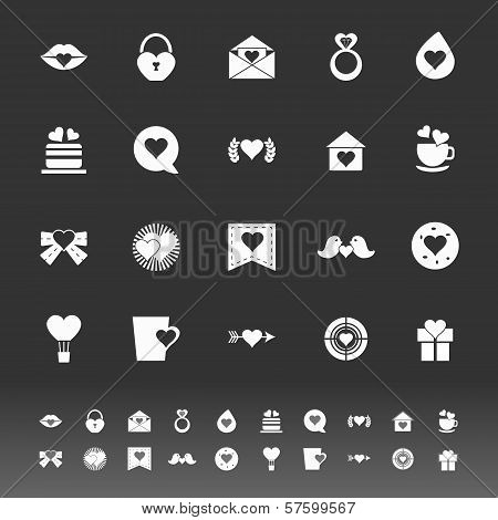 Heart Element Icons On Gray Background