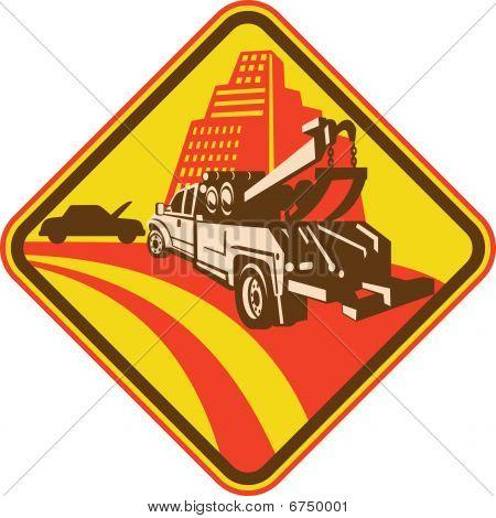 camión de remolque que llegan con la avería del coche