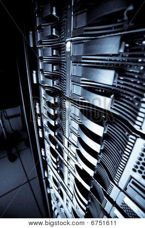 Servers rack in a data center