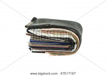 Old Black Wallet