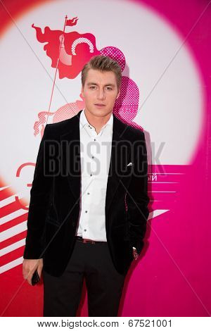 MOSCOW - JUNE, 28: Russian singer S.Vorobyev. 36st Moscow International Film Festival. Closing Ceremony at Rossiya Cinema . June 28, 2014 in Moscow, Russia