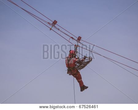 Rescue Workers In Action