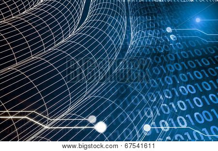 Digital Imagery with Data Network Transfer Art
