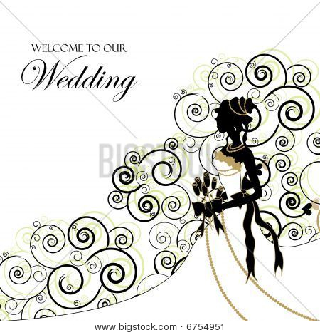 Wedding Graphic; Use as Invitation or Photo Album Cover