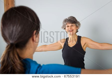 Smiling Middle Aged Sports Trainer