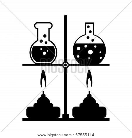 Laboratory Burner And Flask