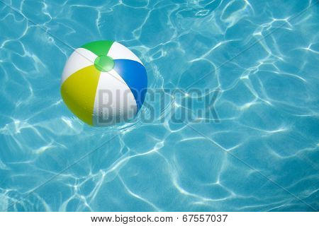 Beach Ball Floating In Pool