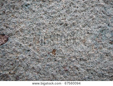 Close up of a blue Incan stone