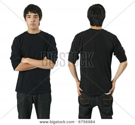 Male With Blank Black Shirt