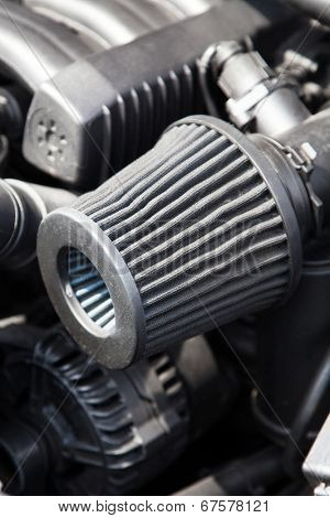 Supercharged sportcar engine - under the hood