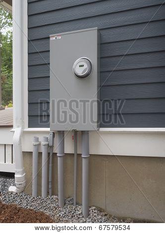 Outdoor electricity meter