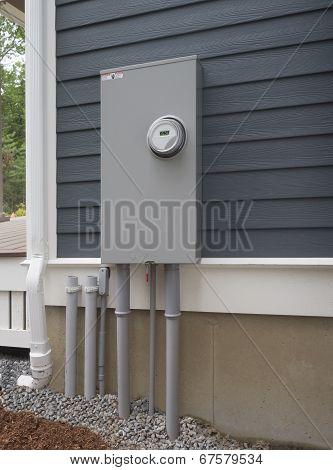 Outdoor electricity meter