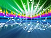 Music Background Meaning Soundwaves Tune And Singing poster