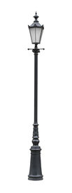 Street Lamppost With One Lamp Black Cutout