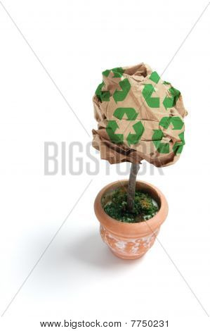 Paper Ball Pot Plant