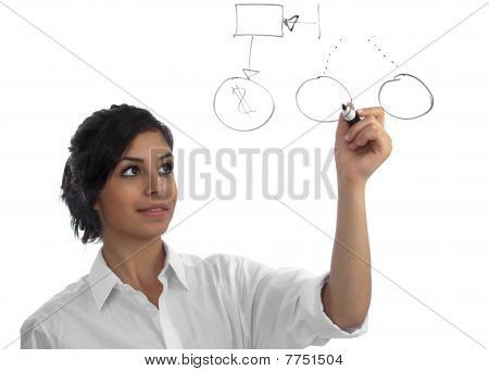 Young Business Woman Presenting Her Idea