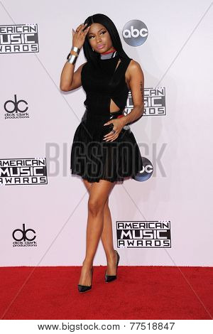 LOS ANGELES - NOV 23:  Nicki Minaj arrives to the 2014 American Music Awards on November 23, 2014 in Los Angeles, CA
