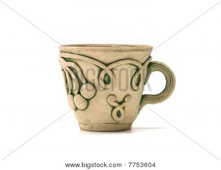 clay coffee cup