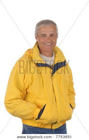 Middle Aged Man In Anorak