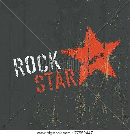 Rock Star Illustration. Raster version