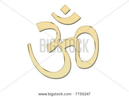 OM symbol in glod