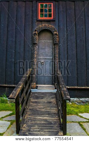 old church door