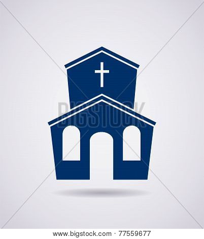 Vector Symbol Or Icon Of Church Building