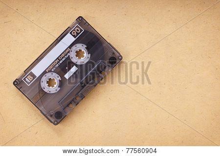 cassette on vintage paper