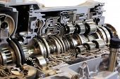 Automotive transmission gearbox with lots of details poster