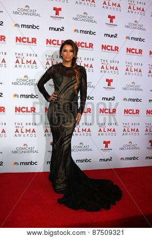 LOS ANGELES - SEP 27:  Eva Longoria at the 2013 ALMA Awards - Press Room at Pasadena Civic Auditorium on September 27, 2013 in Pasadena, CA