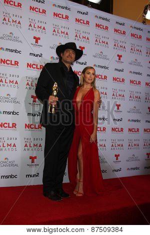 LOS ANGELES - SEP 27:  Robert Rodriguez, Alexa Vega at the 2013 ALMA Awards - Press Room at Pasadena Civic Auditorium on September 27, 2013 in Pasadena, CA