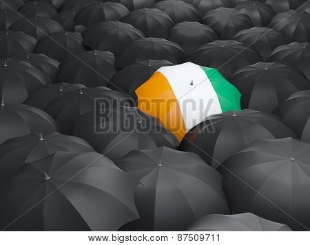 Umbrella With Flag Of Cote D Ivoire