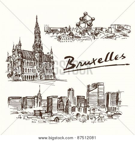 Brussels - hand drawn set