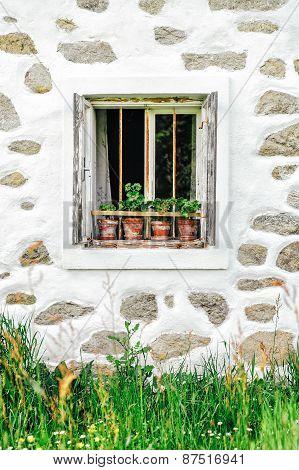 Detail of a farmhouse in upper austria