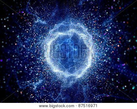 Blue Glowing Torus Shape High Energy Field