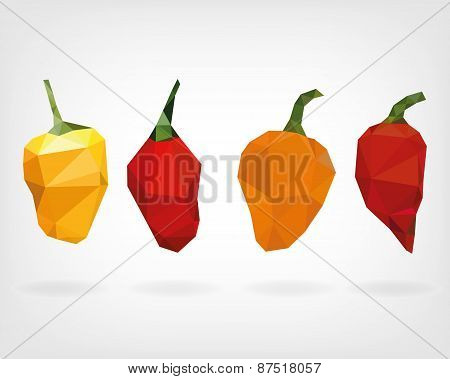 Low Poly Habanero Pepper