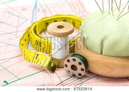 Sewing Accessories On Pattern Cutting