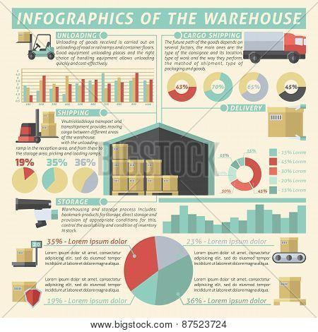 Warehouse Infographic Set