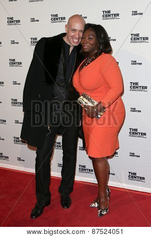 NEW YORK-APR 2: TV personalities Robert Verdi (L) and Bevy Smith attends the 2015 Center Dinner at Cipriani Wall Street on April 2, 2015 in New York City.