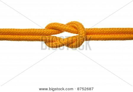 Yellow Rope With Reef Knot