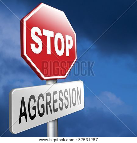 stop aggression and violence bring peace and stop the fighting and hostility poster