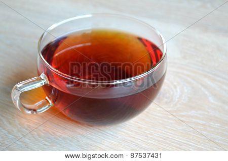 Cup of black earl grey tea