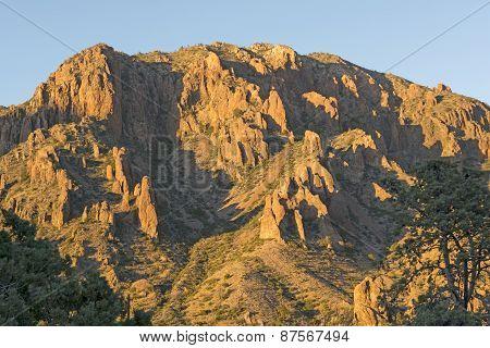 Evening Shadows In The Desert Peaks