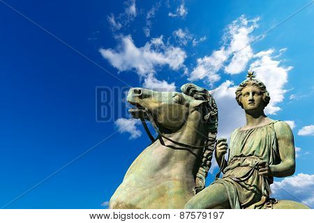Statue Of Pollux - Torino Italy