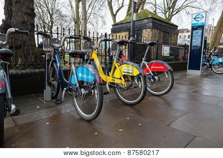 Various Public Bikes In London
