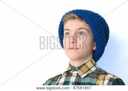 Portrait Of A Tween Boy In A Hat