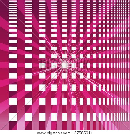 Ray checkerboard theme purple background